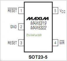MAX6322 pinout,Pin out