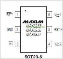 MAX6355 pinout,Pin out