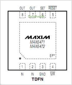 MAX6472 pinout,Pin out