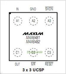 MAX6481BL25BD3-T pinout,Pin out