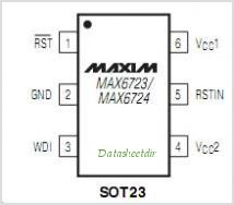 MAX6724 pinout,Pin out