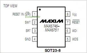 MAX6749 pinout,Pin out