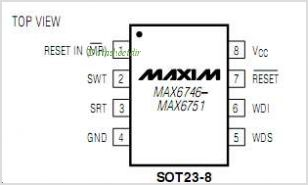 MAX6751KA40 pinout,Pin out