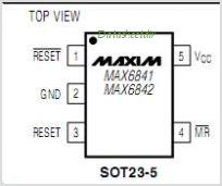 MAX6842 pinout,Pin out