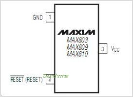 MAX810L pinout,Pin out