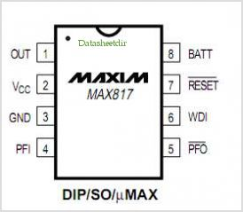 MAX817 pinout,Pin out