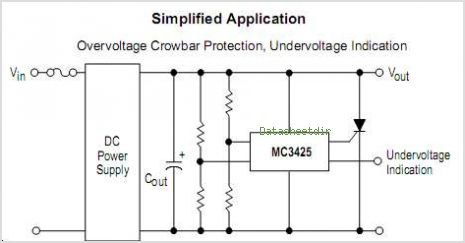 MC3425 datasheet, Pinout ,application circuits Power Supply