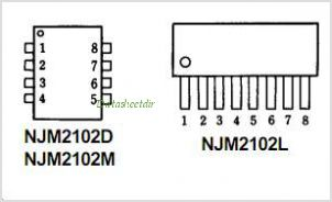 NJM2102 pinout,Pin out