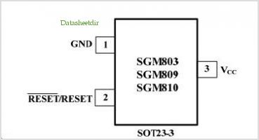 SGM810 pinout,Pin out