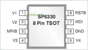 SP6332 pinout,Pin out