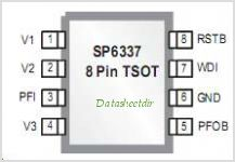 SP6337 pinout,Pin out