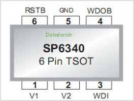 SP6340 pinout,Pin out