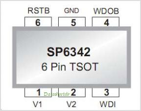 SP6342 pinout,Pin out