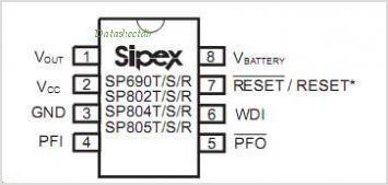 SP802R pinout,Pin out