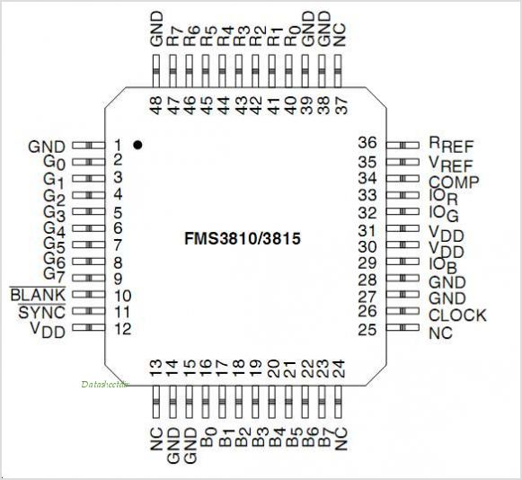 FMS3815 pinout,Pin out