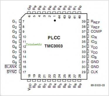 TMC3003 pinout,Pin out