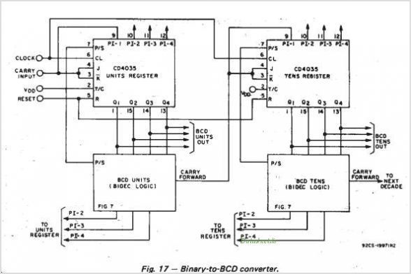 CD4035BE circuits