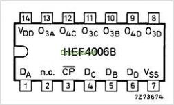 HEF4006B pinout,Pin out