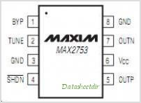 MAX2753EUAT pinout,Pin out