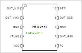 PMB2110 pinout,Pin out