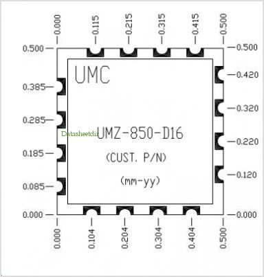 UMZ-850-D16 pinout,Pin out
