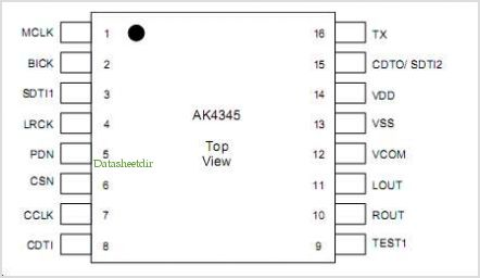 AKD4345 pinout,Pin out