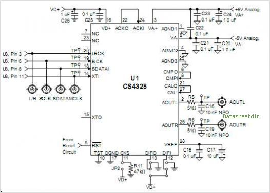 CS4328-BS circuits