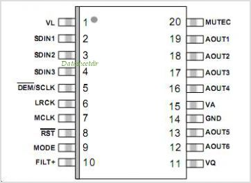 CS4361 pinout,Pin out