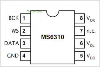 MS6310 pinout,Pin out
