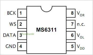 MS6311 pinout,Pin out