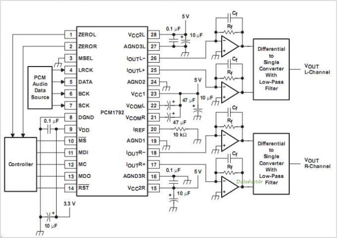 PCM1792DBR circuits