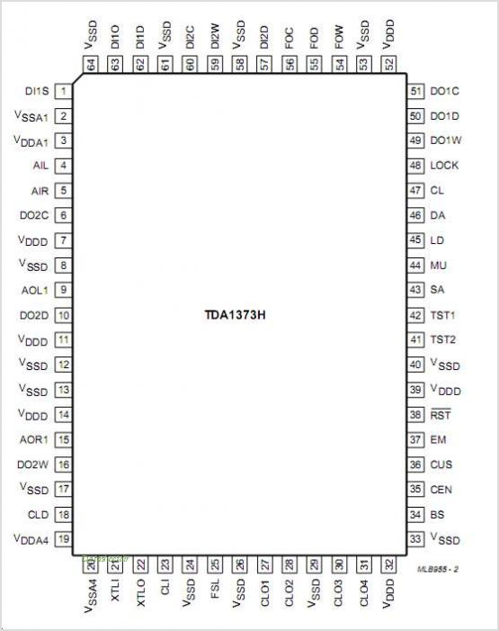 TDA1386T pinout,Pin out