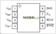 DAC8550 pinout,Pin out