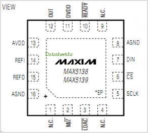 MAX5138 pinout,Pin out