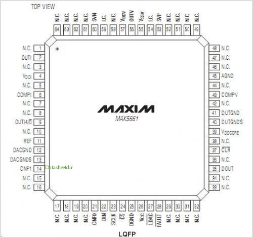 MAX5661 pinout,Pin out