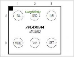 MAX9892 pinout,Pin out