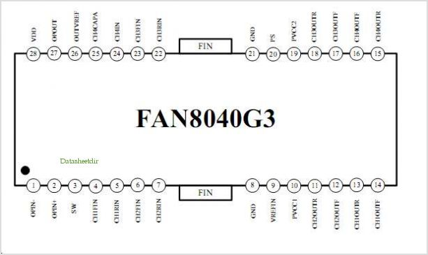 FAN8040 pinout,Pin out
