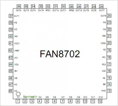 FAN8702 pinout,Pin out