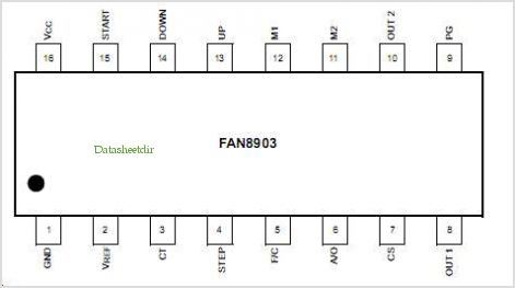 FAN8903 pinout,Pin out