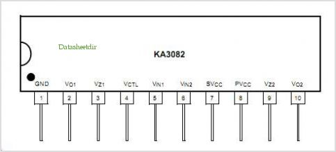 KA3082 pinout,Pin out