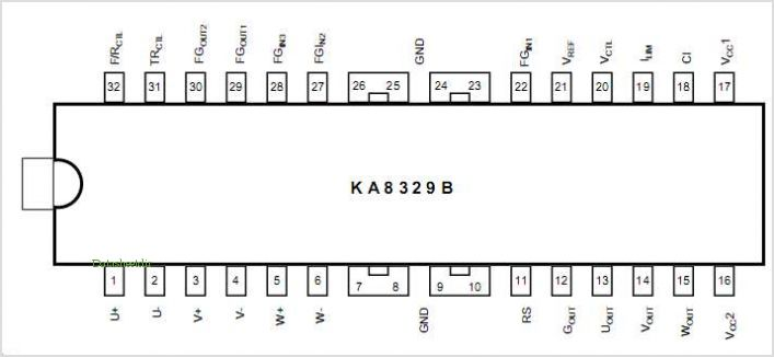 KA8329B pinout,Pin out