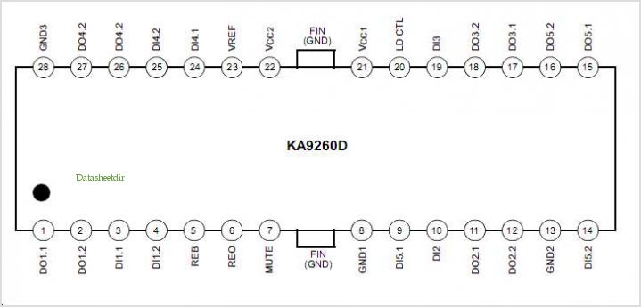 KA9260CDTF pinout,Pin out