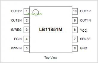 LB11851M pinout,Pin out