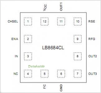 LB8684CL pinout,Pin out