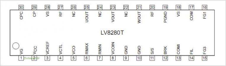 LV8280T pinout,Pin out
