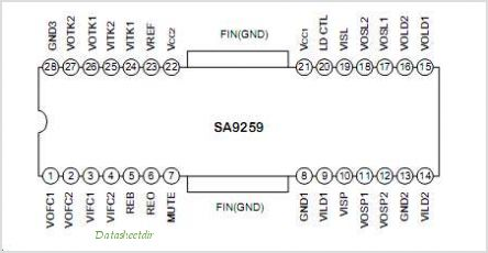 SA9259 pinout,Pin out