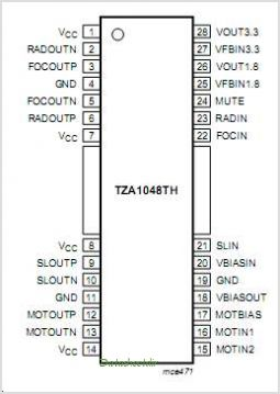 TZA1048 pinout,Pin out