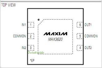 MAX3620 pinout,Pin out