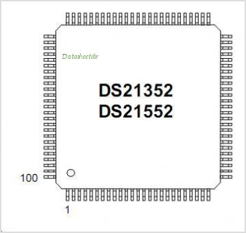 DS21352 pinout,Pin out