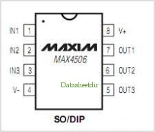 MAX4506 pinout,Pin out